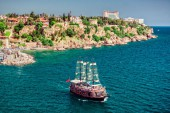 Cruise-touristic-ship-and-view-of-Antalya-city,-Turkey_shutterstock_163639910_5822