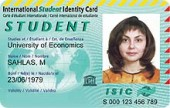 Образец карты студента ISIC