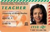 Образец карты преподавателя ITIC